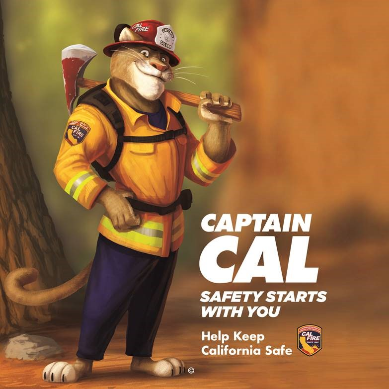 Forestry-ire mascot Captain Cal